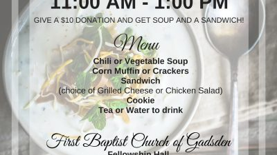 2017 Soup Lunch Fundraiser