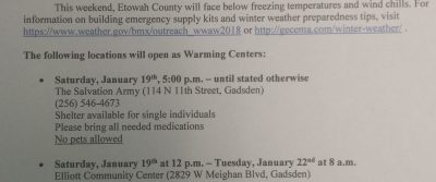 Winter Warming Stations