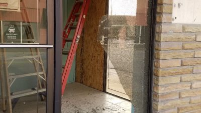 Missions Center Vandalized